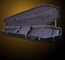 NEW COFFIN CASE X-175 Universal Guitar Case Black w/ Sateen Black & Red Interior