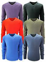 Mens Big Size V Neck Jumpers Soft Feel Acrylic Classic Fit King Size Sweater