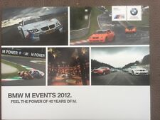 BMW M EVENTS 2012 brochure in Excellent condition