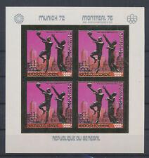 LM81480 Senegal 1976 gold foil olympics basketball imperf sheet MNH