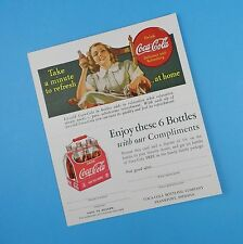Coca Cola Advertising Card with Coupon - Original Unused 1940s - Item A