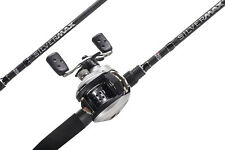 Abu Garcia 2 Piece Silver Max Baitcast Combo Fishing Rod & Reel 6ft 6""