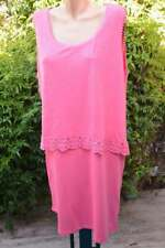 SuzanneGrae Lace Trimmed Dress with Overlay DRESS Coral Pink Size 2XL NEW$59.95