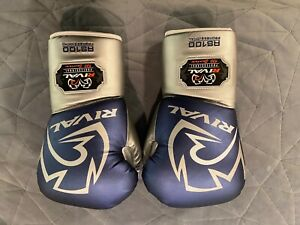 Rival Boxing RS100 Pro Sparring Boxing Gloves - Blue/Silver 18oz