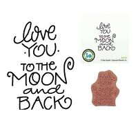 Love you to the Moon and Back Rubber Stamp Impression Obsession Cling Stamps