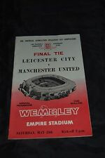 1963 FA Cup Final Programme- Leicester City vs Manchester  (Original, Very fine)