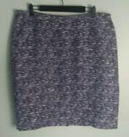 PLUS SIZE Calvin Klein Womens Skirt Sz 16W Purple Woven 23% Linen Pencil Career