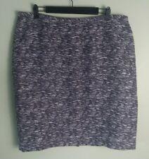 PLUS SIZE Calvin Klein Womens Skirt Sz 16W Purple Woven 23% Linen Pencil Career