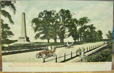 Irish Postcard PHOENIX PARK Wellington Monument Dublin Ireland JV51247 Red Car