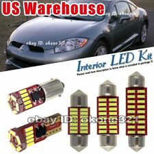 10-pc Luxury White LED Lights Interior Package Kit Fit 98-02 Mitsubishi Eclipse