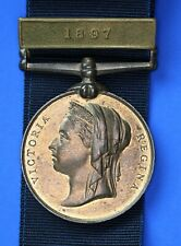 More details for 1887 metropolitan police jubilee medal clasp 1897 with ribbon, pc r saw [23092]