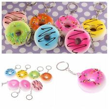 Donuts Soft Squishy Colorful Cell phone Charms Chain Cute Straps Color Random