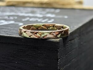 14K GOLD  TRI COLOR WOVEN BRAID WEDDING RING LEGACY DESIGNS BAND  DAT