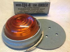 GRIFFIN 114-A AMBER glass early marker CLEARANCE lights truck TRavel TRAILER