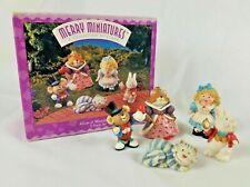 Hallmark 1996 Alice In Wonderland Merry Miniatures 5pc Set Story Time w Box Euc