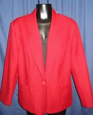 VTG Red HOT Donovan Galvani of Dallas Coat Jacket Suit M Med  Retro GU6 Medium