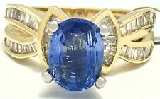 GENUINE 2.57 Carats TANZANITE & DIAMONDS 14k YELLOW GOLD RING * Free Appraisal *