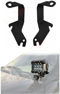 Hood LED Brackets for Off-road Lights Fits 1999-2006 Silverado/Sierra GMC Pair