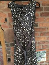 Fenn Wright Manson Pure Silk Cowl Neck Dress Size 12 Immaculate