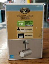 Hampton Bay 1-Light Brushed Nickel Led Mini-Cylinder Linear Track Lighting Head