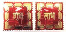 Fondo rojo brillante shubh & Labh Lámina Adhesivo Pegatina religiosa hindú