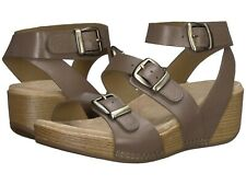 Dansko Lou Sandal Taupe Burnished Calf Leather Strappy Wedge NEW Size 36
