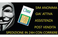 Anonimus sim  lycamobile ITA + 5 euro di traffico Già Attive