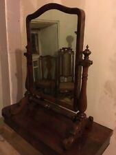 William IV Mahogany SwingToilet Mirror Neo Gothic Styling