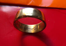 Mens Irish Brass Smooth Celt Finish Traditional Band Size 11 or sized on request