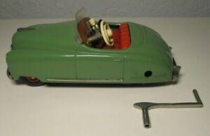 """NICE! WORKS! SCHUCO TACHO-EXAMICO 4002 Clockwork 6.25"""" Toy Car U.S. ZONE GERMANY"""