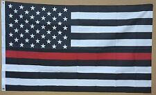 THIN RED LINE 3'x5' FLAG FIREMENS LIVES MATTER FIREMAN FIREWOMAN SUPPORT BANNER
