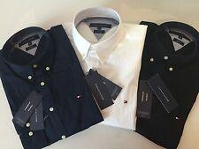 Tommy Hilfiger Figurbetonte Unifarben Herren-Freizeithemden & -Shirts mit Button-Down-Kragen