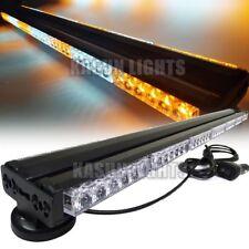 """41"""" LED Double Side Work Light Bar Beacon Warning Strobe Light Amber&White 252W"""