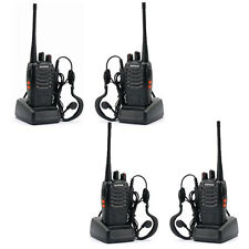 4 * Baofeng Bf-888S 400-470Mhz Ham 5W Two Way Radio Communication + Gift Headset