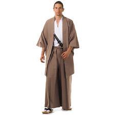 Japan Samurai Kimono Set 3 Teile Kendo Gi + Hakama + Haori Baumwolle Braun Weiß