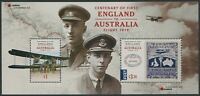 CENTENARY OF FIRST ENGLAND TO AUSTRALIA FLIGHT 2019 - MNH MINISHEET (BL308)