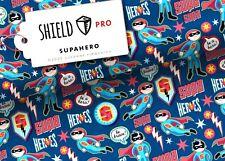 Shield Pro Albstoffe Hamburger Liebe Supahero Maskenstoff Kinderstoff blau 25 cm