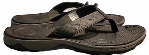 Merrill Flip Flops US Size 11 Solid Brown Tortugus/Bracken Slip On Men's Summer