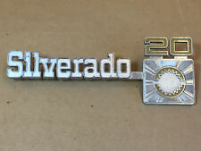 Vintage Chevrolet Silverado 20 Emblem #349695 Truck Badge Metal Chrome