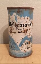 Vintage Heilemans Lager Beer Can Flat Top Breweriana Empty 12 oz