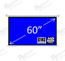 "60"" Electric HD Motorized Projection Screen Projector home cinema 16:9 Matt Grey"