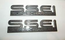2000-2004 Pontiac Bonneville SSEi Supercharged door emblem pair used OEM logos