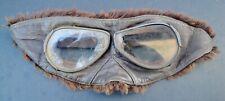 WW1 RFC Fur Lined Goggles. RAF. Pilot.