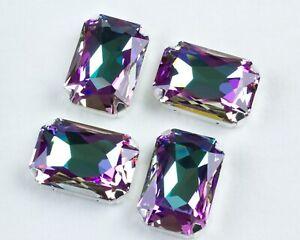4 Swarovski Crystal Vitral Light Color 27x18,5 Octagon Fancy Rhinestones #4627