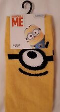 NEW WITH TAGS Mens Yellow Despicable Me Minion Fashion Socks sizes 6-11 39-46