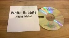 CD Indie White Rabbits - Heavy Metal (1 Song) Promo MUTE REC
