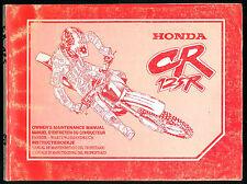 Manuel d'entretien HONDA CR 125 R 1997 Revue technique d'Atelier en FRANCAIS