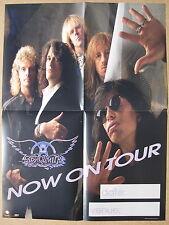 AEROSMITH Now On Tour 1989 US Promo POSTER Steven TYLER Joe PERRY Minty! PUMP