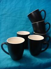 BEVANDE EBONY BLACK 400ml COFFEE TEA MUG (6-PACK) BRAND-NEW COMMERCIAL-QUALITY
