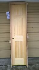 "New: Nice Solid Pine Wood Kitchen Pantry Door w/ Frame 20"" W x 80""H"